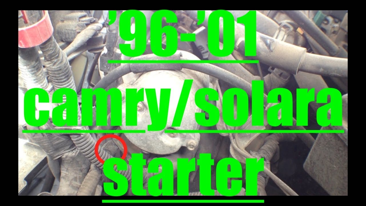 hight resolution of easy starter motor replacement 96 01 toyota camry solara fix it angel