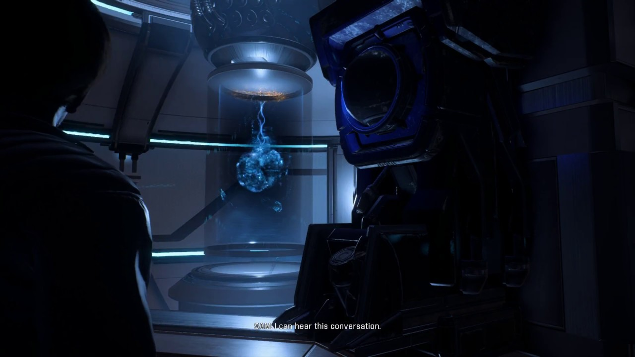 Mass Effect Andromeda Talk To Ancient Ai At Sam Node Youtube