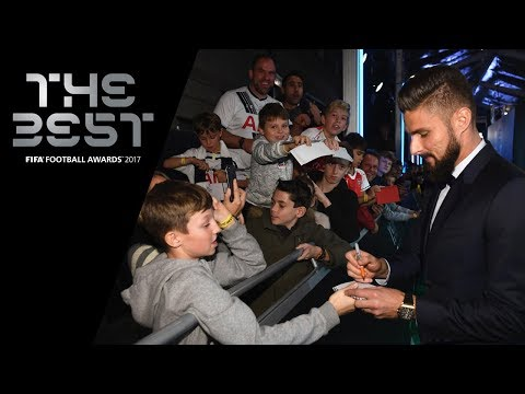 Olivier Giroud reaction - The FIFA Puskas Award Winner 2017