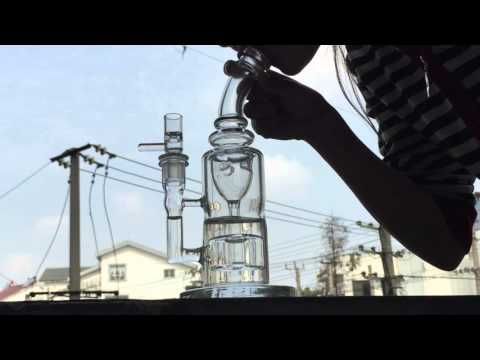 Mothership Torus sturdy Glass water pipes oil rigs glass bongs incycler honey bucket banger