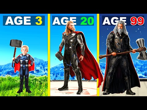 Surviving 99 YEARS As THOR In GTA 5 ...