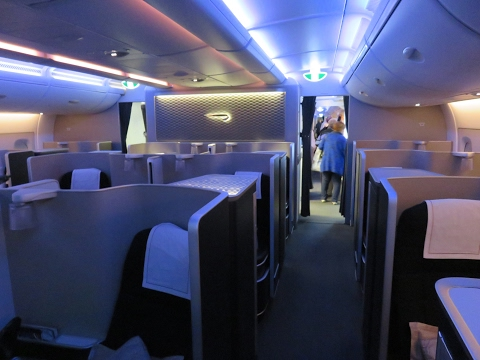 British Airways A380 First Class Johannesburg to London: tri