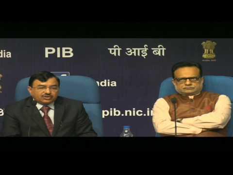 Press Conference by Revenue Secretary, Dr. Hasmukh Adhia and Chairman CBDT, Mr. Sushil Chandra Mp3
