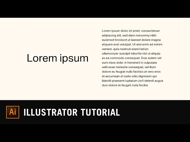 Point Type vs Area Type | Illustrator Text Tutorial
