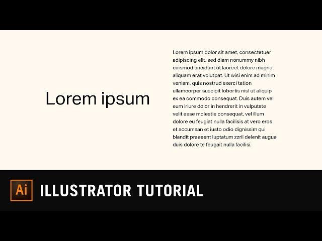 Point Type vs Area Type | Illustrator Text Tutorial