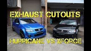 HOLDEN SS/PONTIAC G8 EXHAUST REVIEW - HURRICANE w/CUTOUTS vs XFORCE VAREX