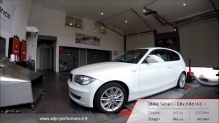 Reprogrammation moteur BMW Série 1 - E8x 118d 143 @ 185 PS - ADP Performance