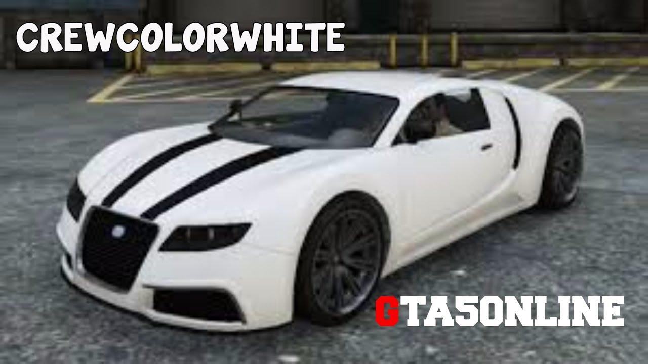 GTA V ONLINE CREW COLOR PURE WHITE - YouTube