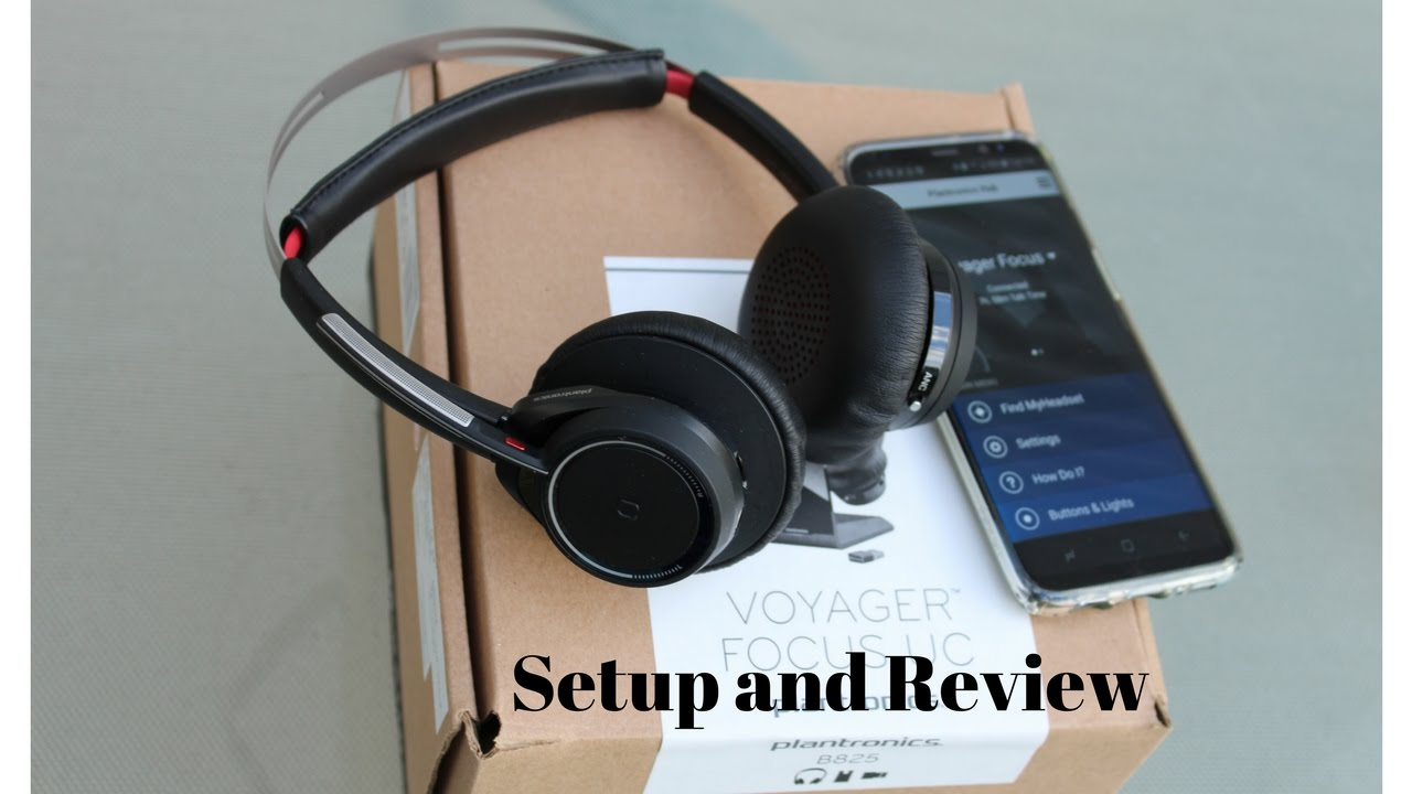 Plantronics Voyager Focus Uc B825 Setup And Review Youtube