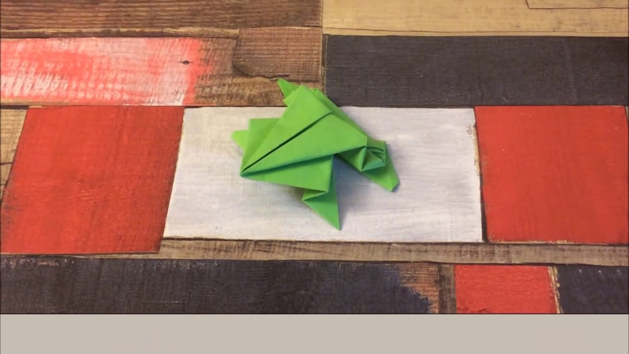 how to make a paper frog
