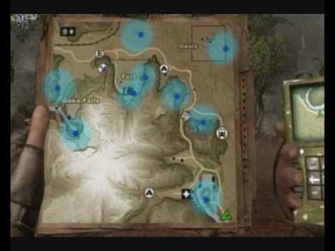Far Cry 2 North Diamond Locations Map Farcry Briefcases Youtube