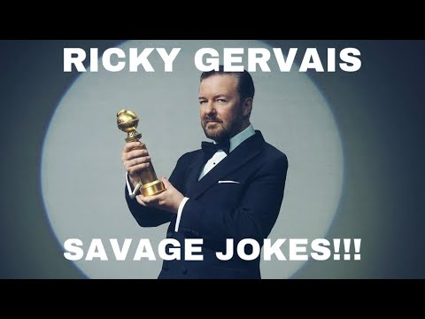 Ricky Gervais SAVAGE moments from Golden Globes 2020