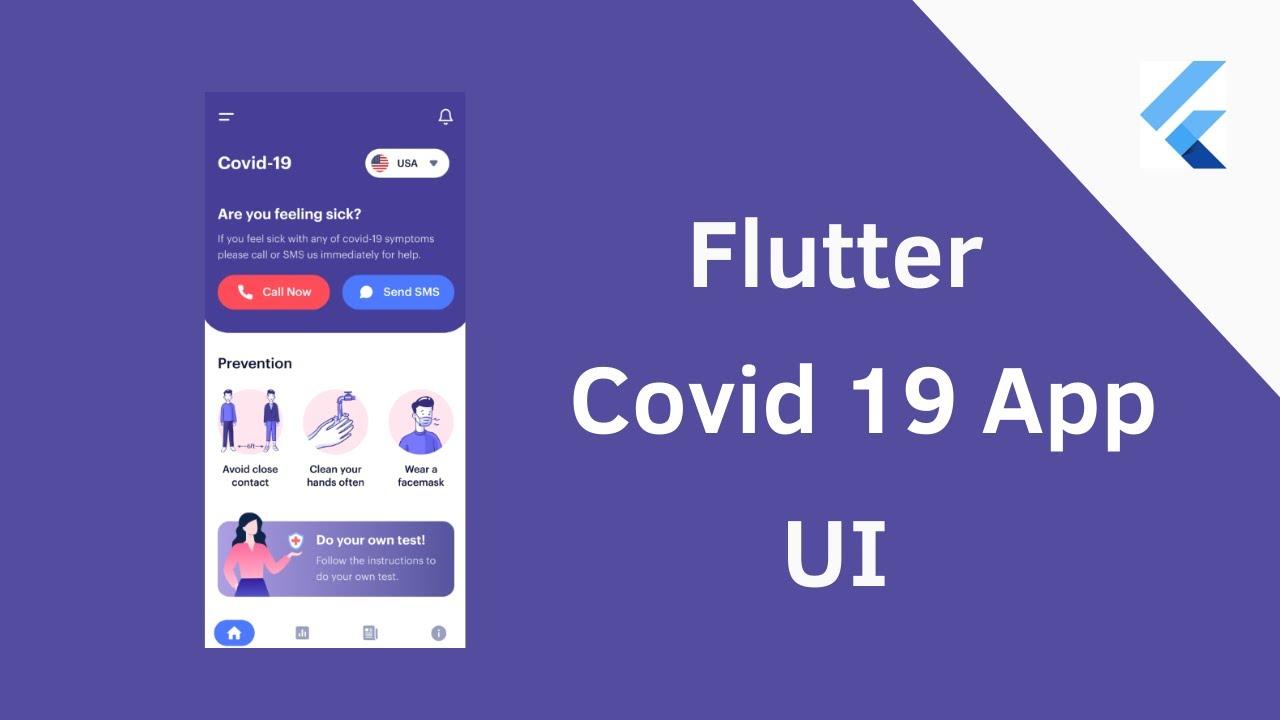Flutter Covid - 19 App UI - Speed Coding Tutorial