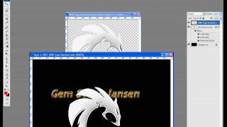 How To Make Basic Logo in Adobe photoshop cs3