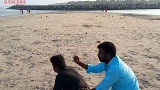 Beach Back Massage with hand massage ASMR BEACH Relaxing,