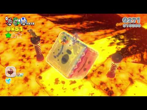Super Mario 3D World - Part 33 | Smiley Block Lava Pool Left Testicle Of Death
