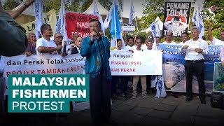 Malaysian fisherman protest