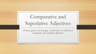 Aviation English - Comparative and Superlative Adjectives