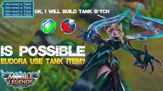 Mobile Legends - Never Use This Build!!! EUDORA as a Tanker Legendary Kill [Troll Build] MVP