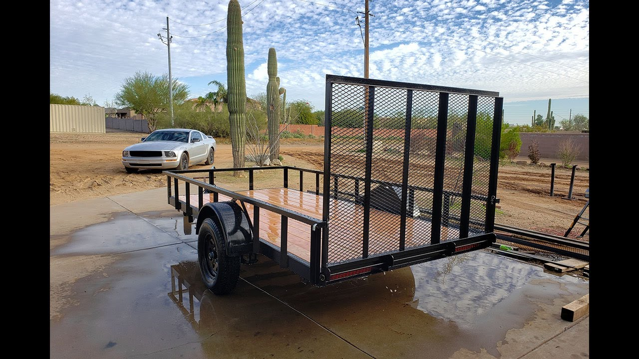 Building A 6 X 12 Utility Trailer 3 500 Lb Capacity Using Engineered Trailer Plans Youtube