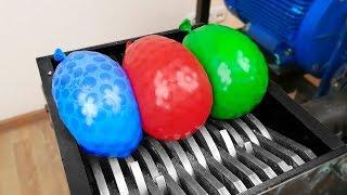 Shredding Machine Vs Giant Balloons!