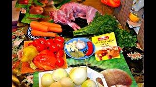 Кролик тушеный с картофелем и салат из кабачков с морковью: Рецепты от Михаила Столярова.