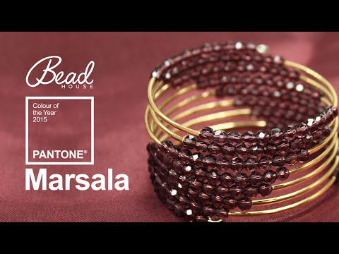 Pantone Colour of the Year 2015 is Marsala - Bead House