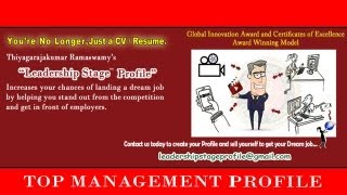 Leadership Stage ( Dream Employment ) Profile - Senior Management Professional
