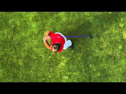Golf Swing Top Down View - Super Slow Motion