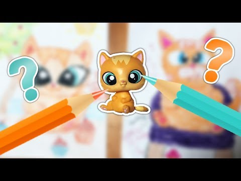 LPS Cat Drawing Challenge! (With My Cousin!)