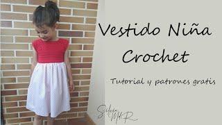 Vestidos de niña tejidos a crochet patrones