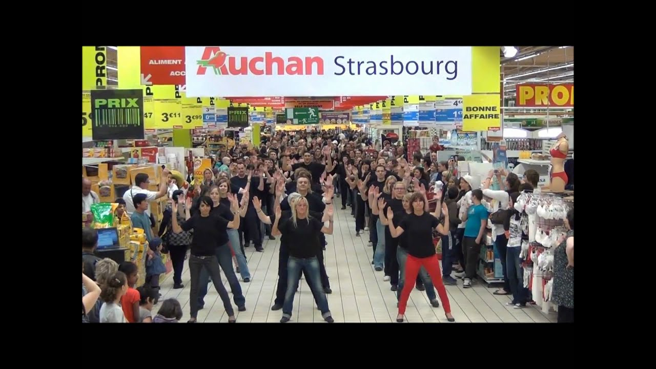 auchan strasbourg flashmob officiel avril 2011 youtube. Black Bedroom Furniture Sets. Home Design Ideas