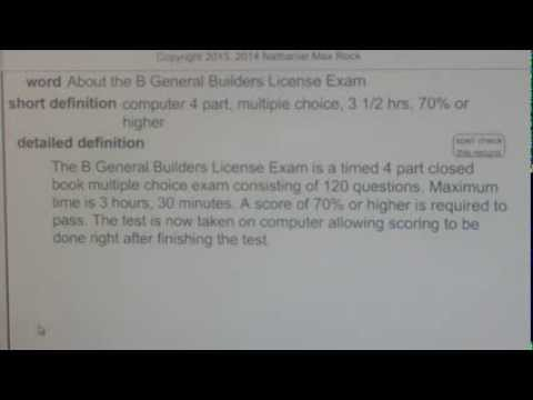 About the B General Builders License Exam GCE42.com General ...