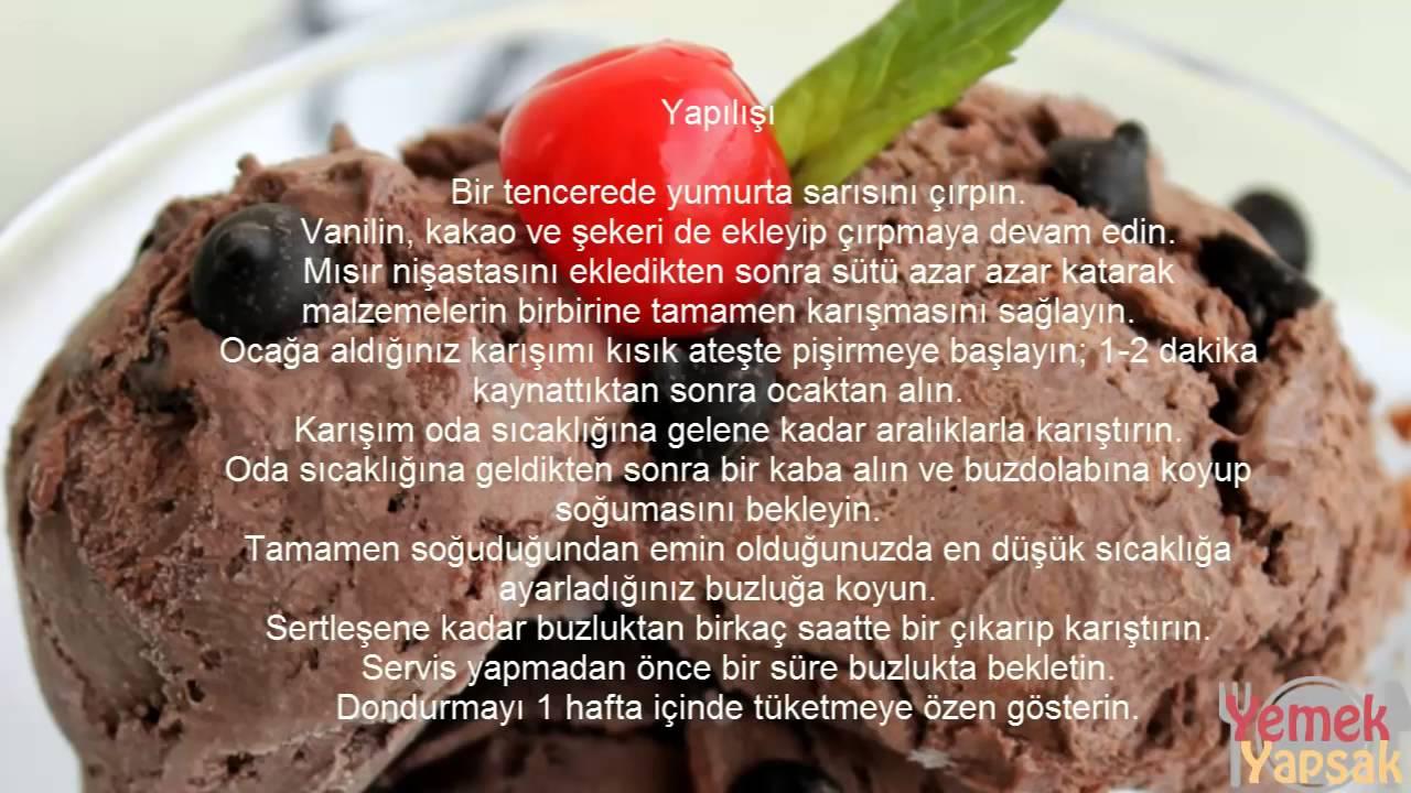 Evde çikolatalı dondurma nasıl yapılır