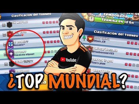 TOP MUNDIAL EN DIRECTO😱 EL TORNEO MUNDIAL MÁS RARO🤣 | CLASH ROYALE
