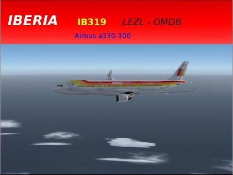 Fsx Sevilla - Dubai Airbus a330-300 Iberia #9