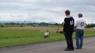 Swiss Heli-Challenge 2013 Piasecki H-21 and Bell UH-1 Huey army scale RC Helicopter show flight