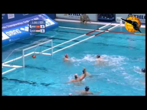 Montenegro 14 Hungary 13 ET Semifinal European Champs Eindhoven 2012 27.1.12 water polo