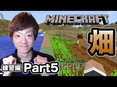 【マインクラフト】セイキン夫婦のマイクラ実況!練習編Part5 畑作り開始!【Minecraft】