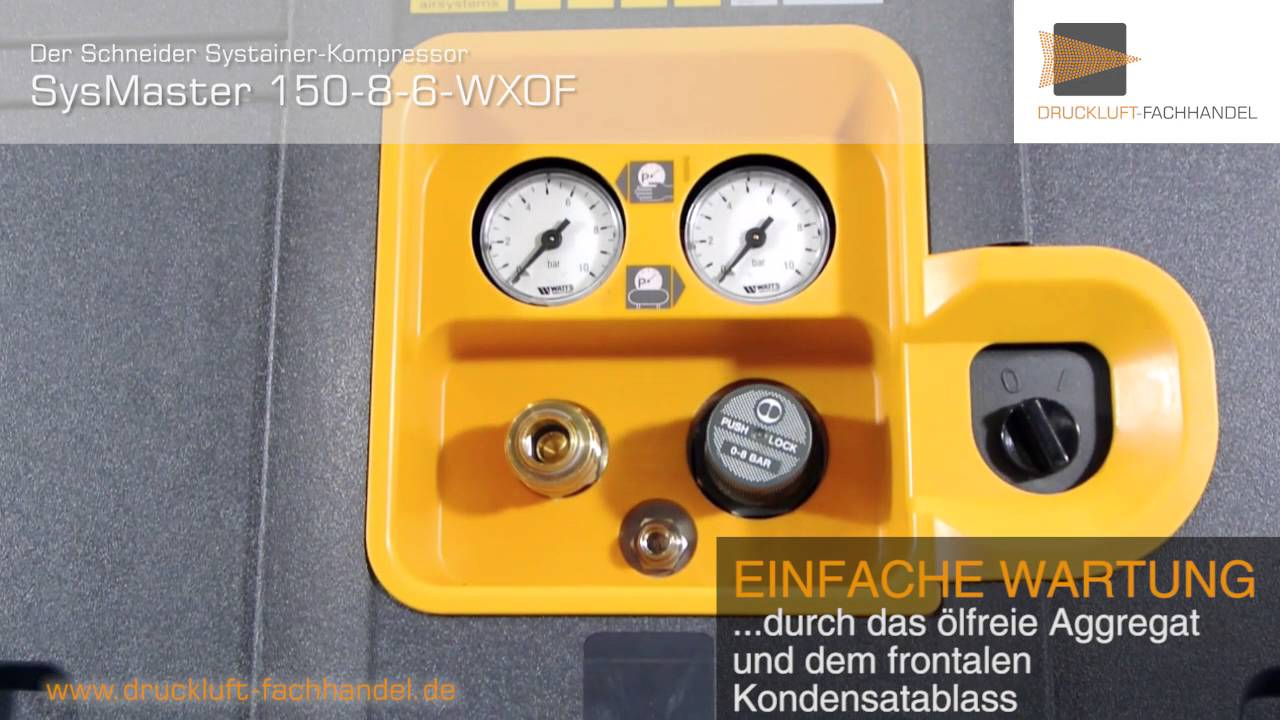 SCHNEIDER Systainer Compresseur Sysmaster 150 8 6 WXOF a911000 Portable