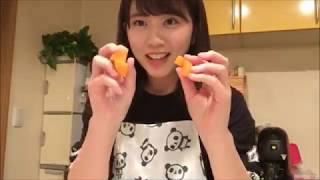 20170928 清水麻璃亜 (AKB48 チーム8) SHOWROOM シミズキッチン 誕生日...