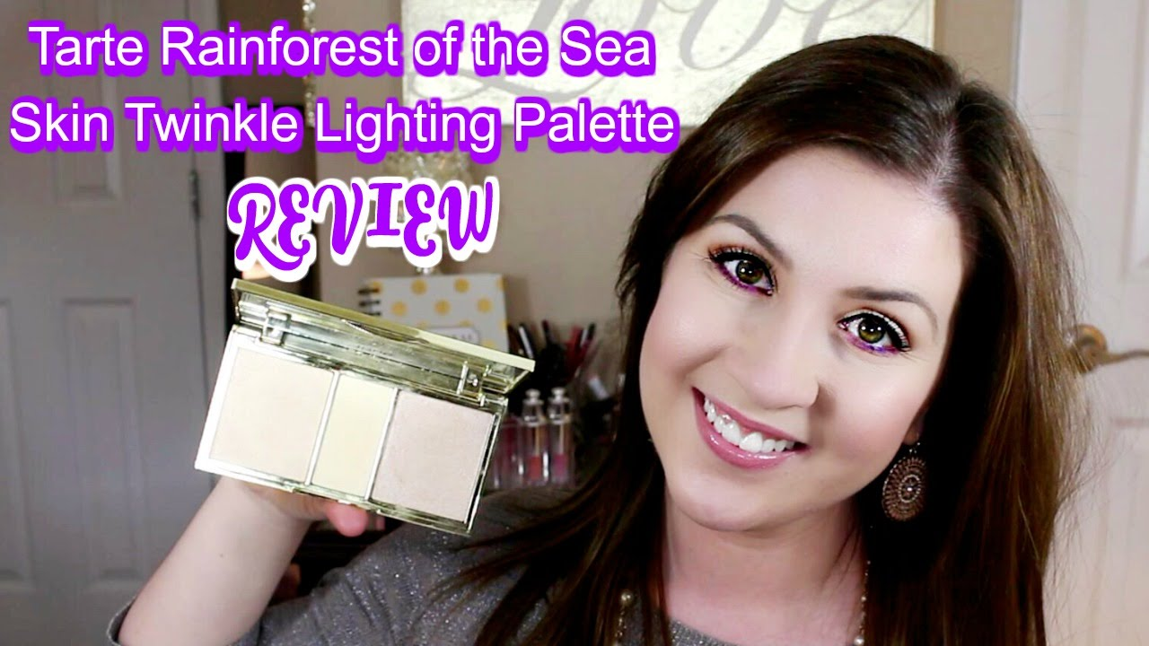 Tarte Rainforest Of The Sea Skin Twinkle Lighting Palette Review Swatches
