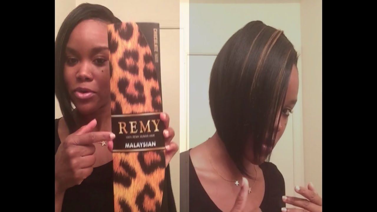 Bob Hairstyle Review Malaysian Remy 100 Human Hair Weave