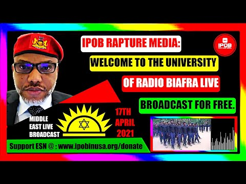 Shabbat Shalom: Radio Biafra *MIDDLE-EAST LIVE* Broadcast April 17Th 2021 | Hosted By Uchenna Obilo