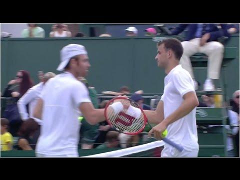 Grigor Dimitrov vs. Bjorn Fratangelo 6-3, 6-4, 6-2 The Championships Wimbledon (R128) 27.06.2016.