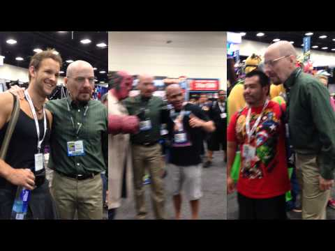 Bryan Cranston disguised as Walter White  ComicCon 2013