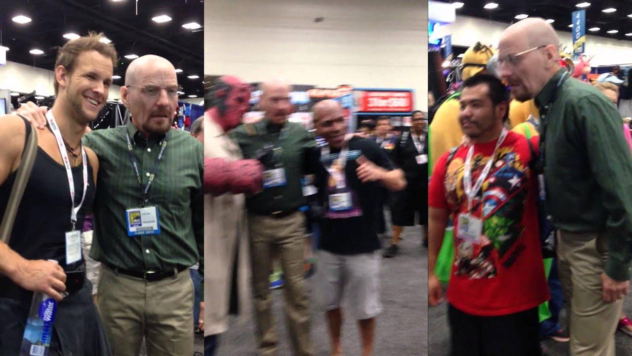 Bryan Cranston Disguised As Walter White Comic Con 2013