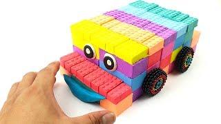 DIY How to Make Kinetic Sand Rainbow Disney Cars | Kinetic Rainbow Car | Oddly Satisfying Video