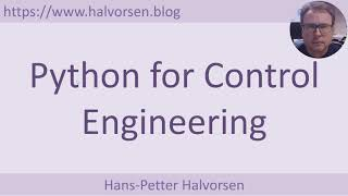 Python for Control Engineering