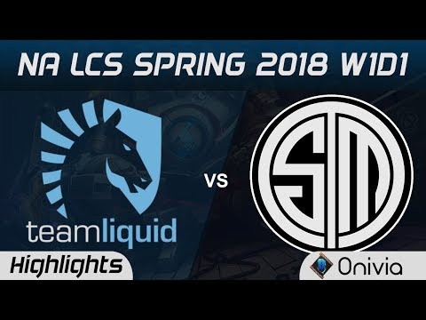 TL vs TSM Highlights NA LCS Spring 2018 Team Liquid vs Team Solo Mid  Onivia
